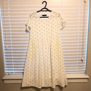 Roolee White polka dotted dress